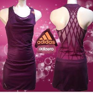 Adidas adizero purple tennis dress